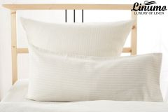 Pillow Cover NECKAR 100% Linen creme pinstriped 70x90cm