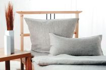 Linen Bedcover SIEG 100% Linen Anthracite various sizes