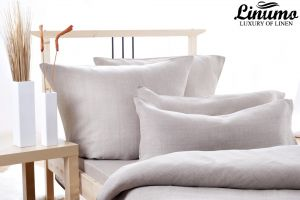Bedding Set DONAU 100% Linen Gray 2PC 125g/qm