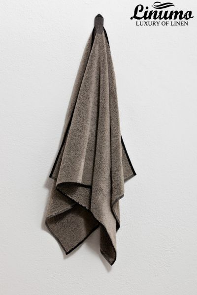 Bath-towel from lines frotté gray different sizes