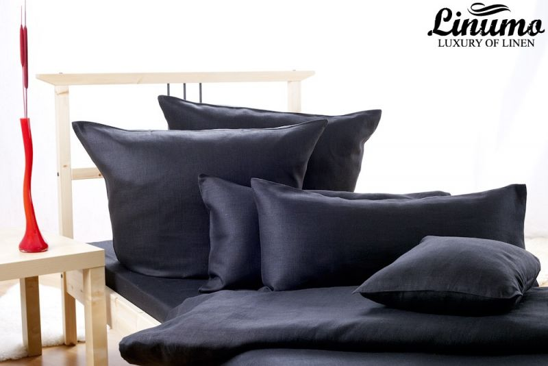 Bedding Set ALTMUEHL 100% Linen Black 2 or 2PC