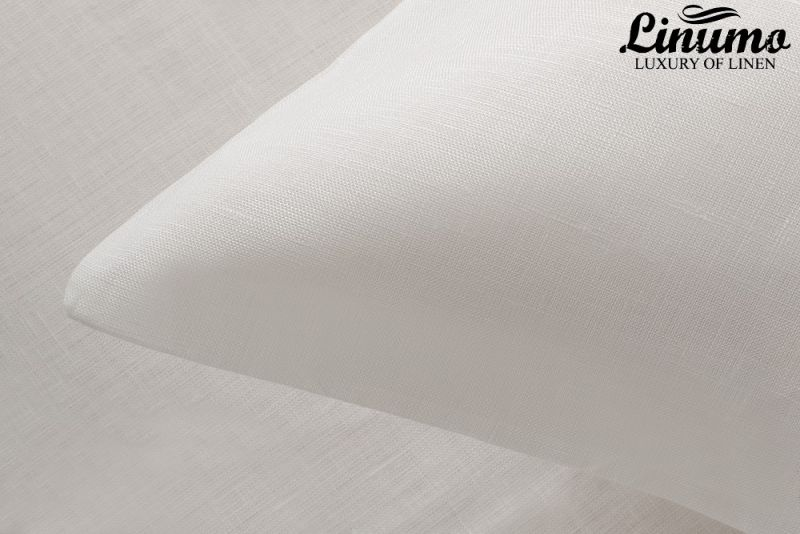 Bedding Set PEENE 2PC Pure linen batiste White 125g/qm