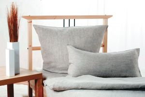 Bedding Set SIEG 100% Linen Anthracite 2PC