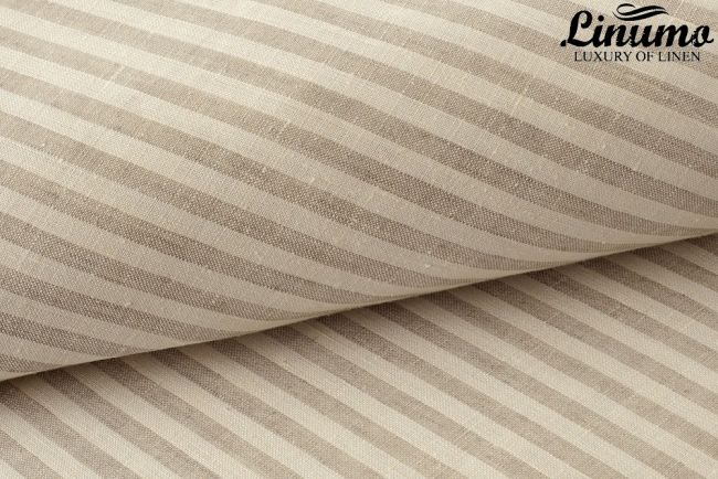 Bedding Sheet EMS 100% Pure Linen White-Gray striped 150x250cm