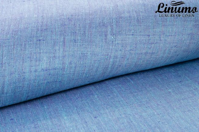 Bedding Sheet SALZACH 100% Pure Turquoise-Blue Design Different