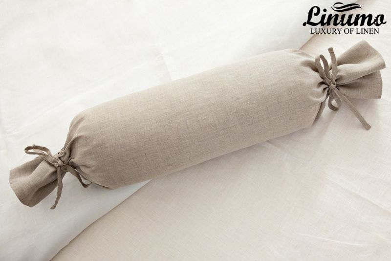 Bolster DONAU 100% Linenbatiste natural gray diff. Sizes