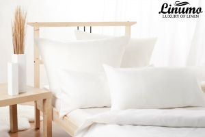 Children's bed linen PEENE 2PC pure linen batiste White 125g/qm