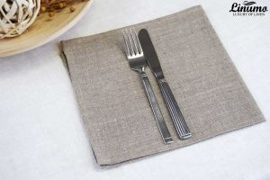Classic design made of 100% linen napkin MAIN natural grey diff.