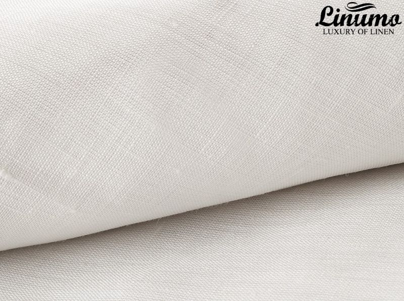 Elastic Bedding Sheet RHEIN 100% Pure Linen White 160g/qm