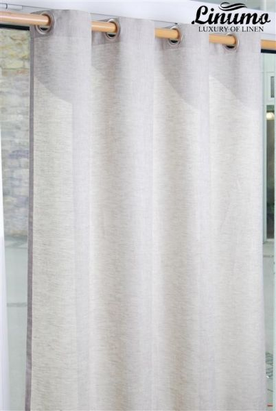 Finished linen curtain beige different sizes M06C112