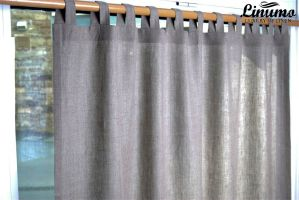 Finished linen curtain gray different sizes M08C215