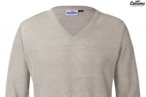 High quality Men's Sweaters Knitted Linen V-neck