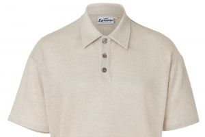 High-quality polo shirt made of linen pique 100% Linen