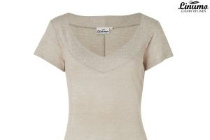 Ladies dress in fine linen knit