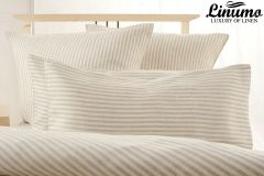 Linen Bedcover EMS White-Gray striped various sizes