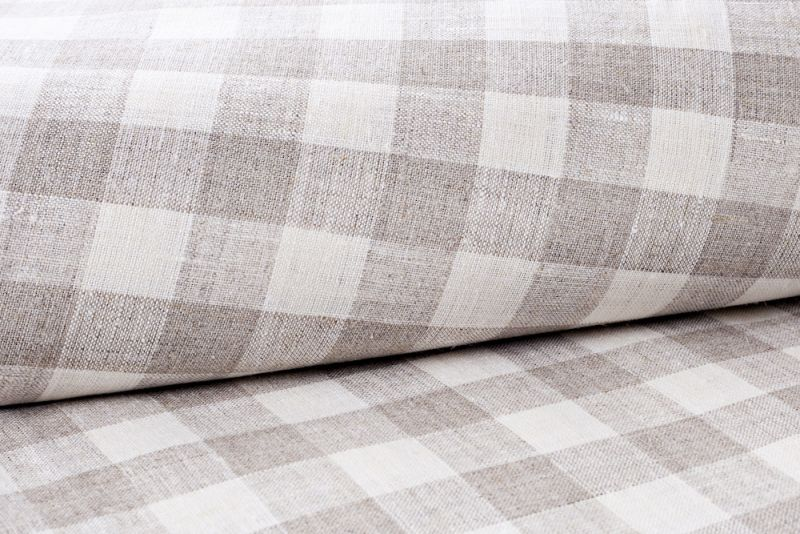 Linen Bolster Mosel 100% Linen Checked Design