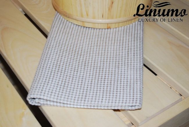 Luxury sauna & bath towel IVALOJOKI linen mix white/beige