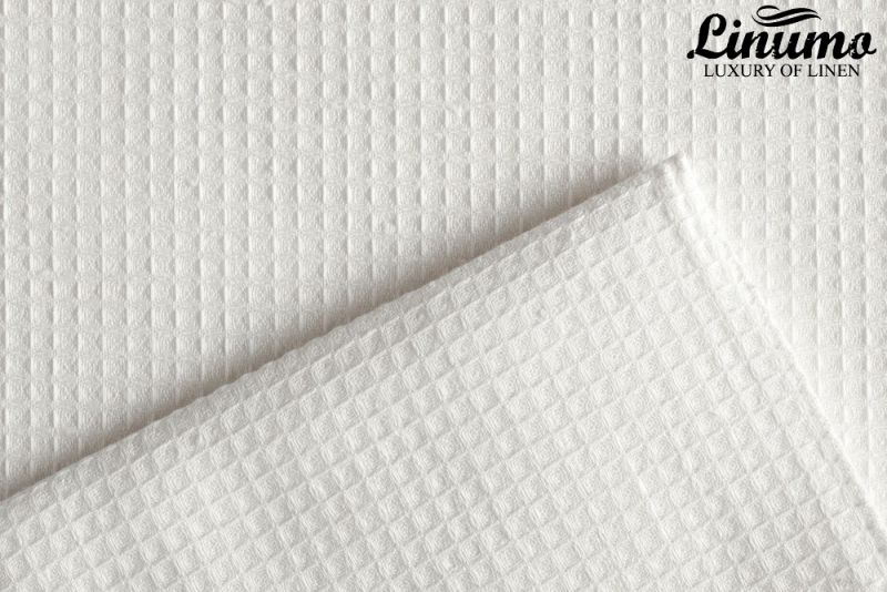 Luxury sauna & bath towel pique 100% linen white Different Sizes