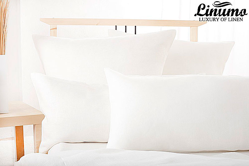 Pillow Cover PEENE 100% Linen batiste 125g/qm White Diff. Sizes