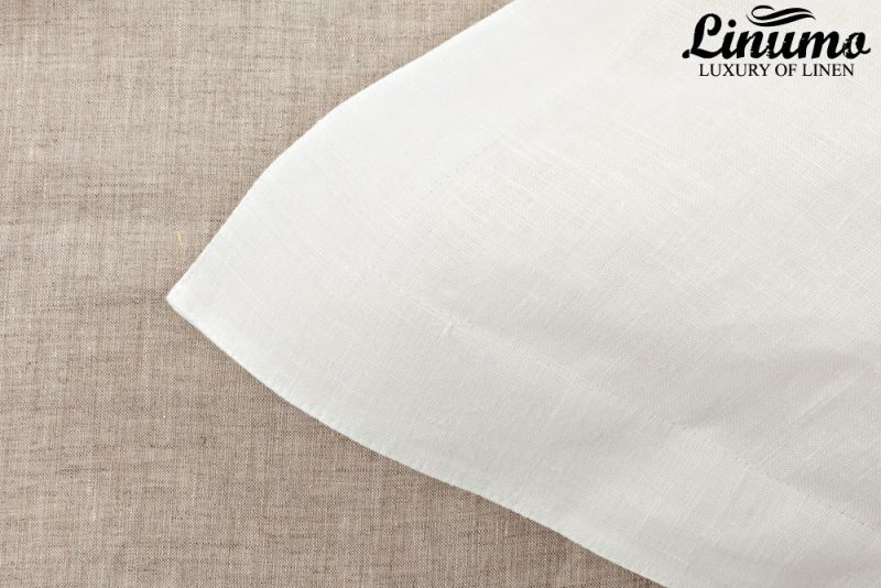 Pillow Cover RHEIN 100% Linen Pure White Different Sizes
