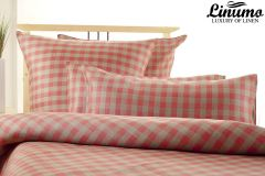 Pillow Cover SPREE 100% Linen Red Checked different Sizes