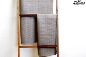 Sauna & bath towel pique 100% linen natural/gray Different Sizes