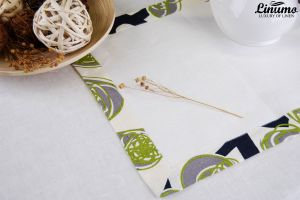 Table Runner 100% linen white with border Different Sizes