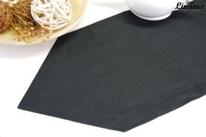 Table Runner in precious linen Black Different Sizes ILLER