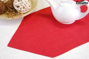Table Runner in precious linen Red Different Sizes