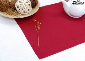 Table Runner in precious linen Ruby Different Sizes