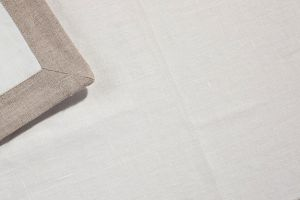 Tablecloth MULDE 100% Linen-Jacquard Gray Different Sizes