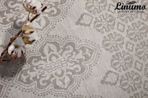 Tablecloth WERRA 100% Linen-Jacquard Gray Different Sizes