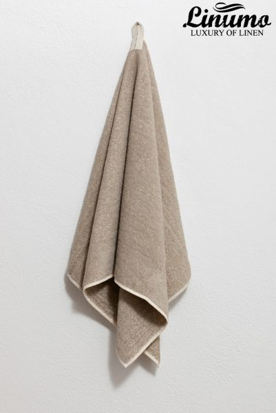 Bath-towel from lines frotté natural different sizes