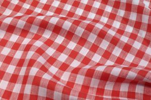 Tablecloth JAGST 100% Linen red/white checked Different Sizes
