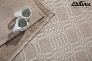Tablecloth OSTE 100% Linen-Jacquard Gray Different Sizes
